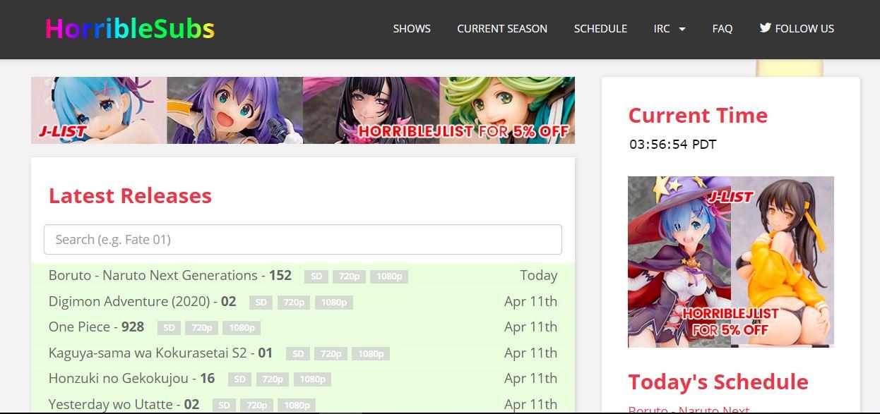 Horriblesubs anime torrents