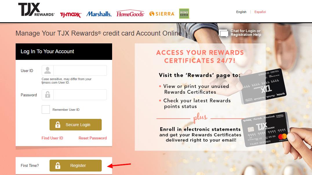 TJ Maxx Credit Card Login