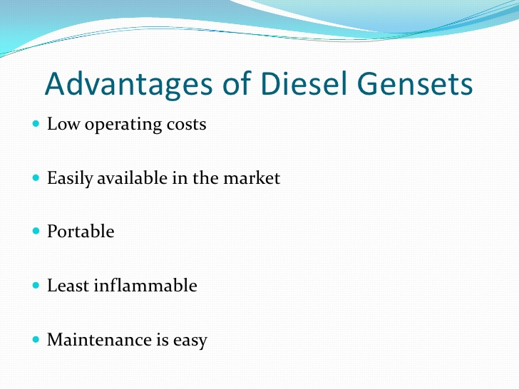 advantages of a diesel generator