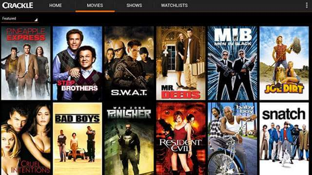 Crackle, free online movie streaming sites