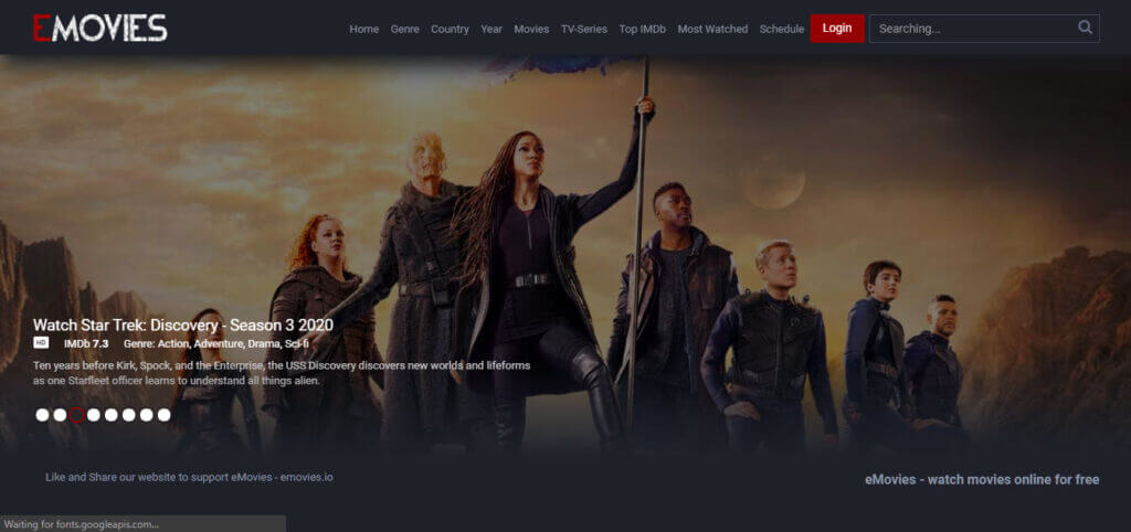 Emovies, top movie streaming sites