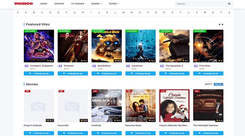 Vumoo, best online movie streaming sites