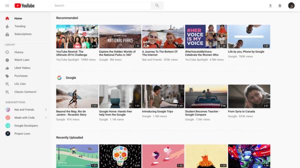 YouTube, free movie streaming sites