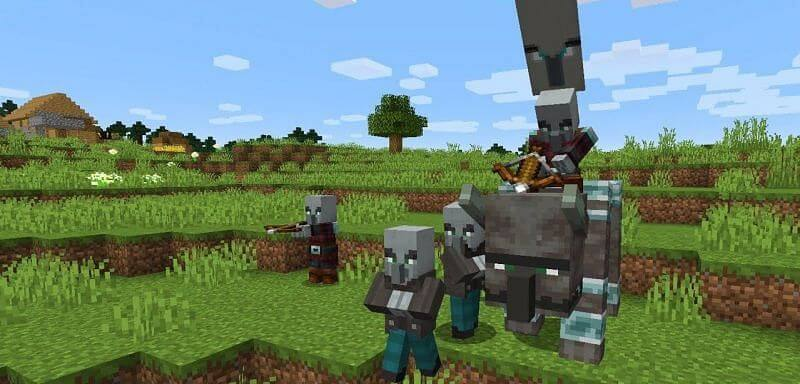 how to start a raid in minecraft
