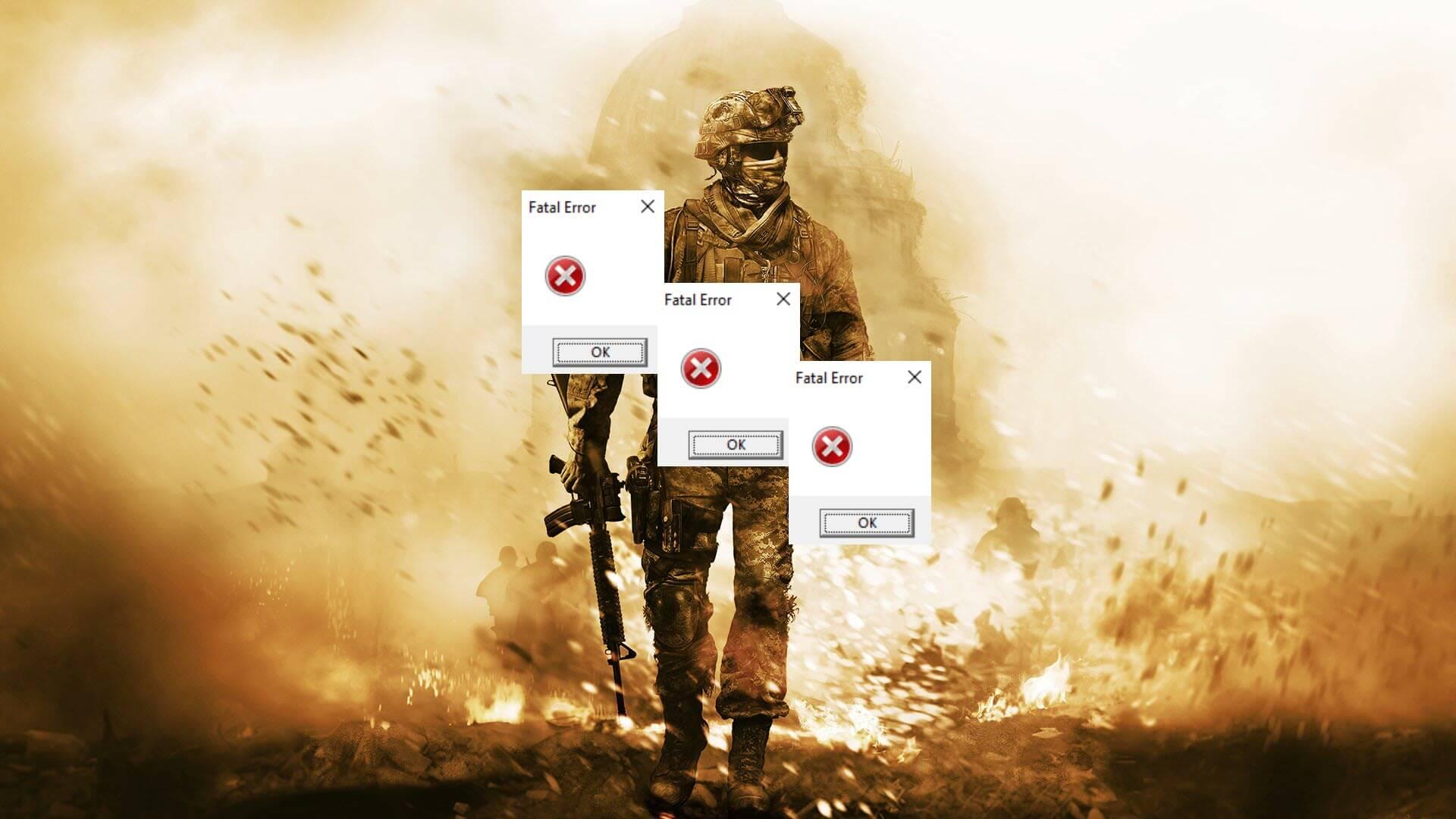 modern warfare fatal error
