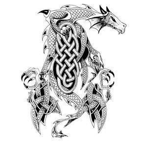 Celtic Dragon Tattoo