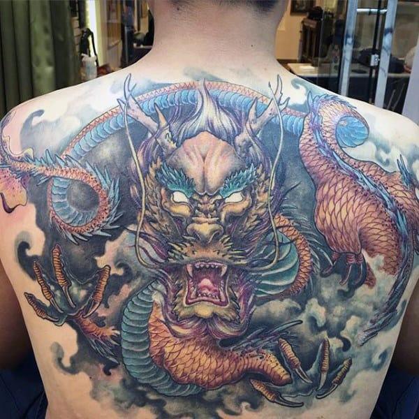 Legendary Snake Back Tattoo