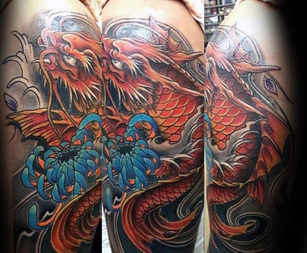 Legendary Snake Koi Tattoo