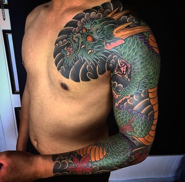 Legendary Snake Sleeve Tattoo