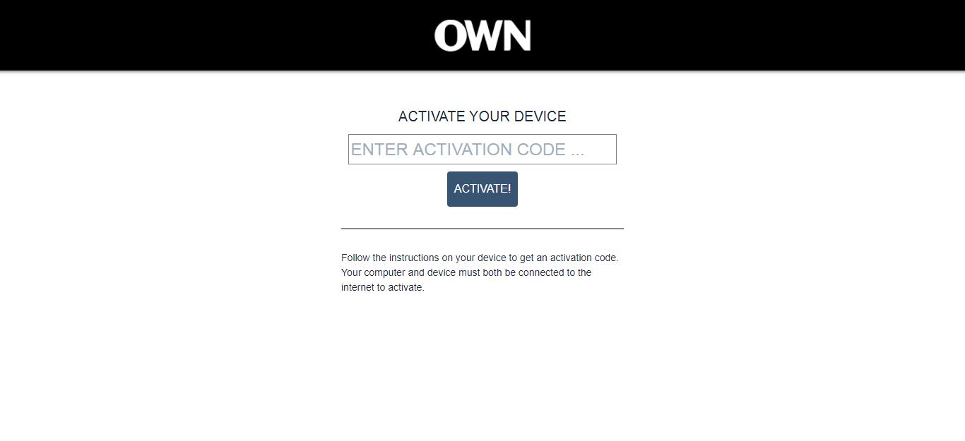 start.watch own.tv/activate