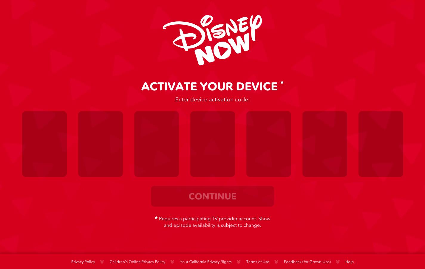 disneynow/activate